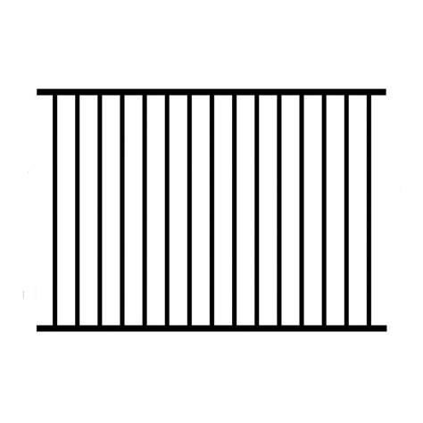 picket fence sections home depot allure aluminum 4 ft h x 6 ft w aluminum black