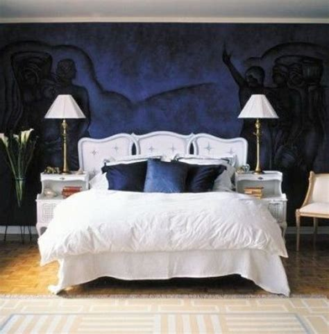 dark blue bedroom dark blue bedroom with white brown and black home