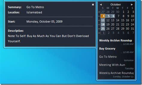 Desktop Calendar Windows 7 Sync Calendar With Windows 7 Desktop
