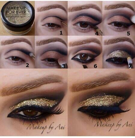 Mba Cosmetics Glitter Tutorial by A Collection Of 30 Best Glitter Makeup Tutorials And Ideas