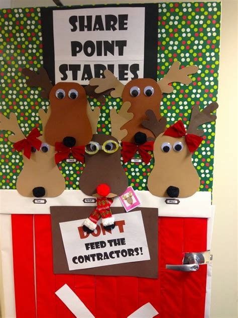 christmas ideas for decoratingfor the kg pper door decorations with reindeer happy holidays