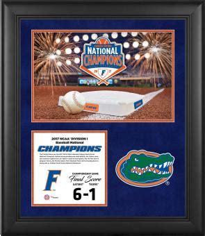 Florida Gators National Chions Framed Florida Gators Sports Memorabilia Signed Autographed