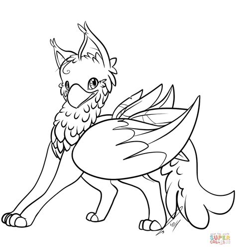Griffon Base Coloring Pages Griffin Coloring Pages