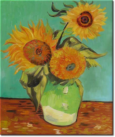van gogh sonnenblumen keilrahmenbild auf leinwand ebay vincent van gogh drei sonnenblumen in einer vase ein