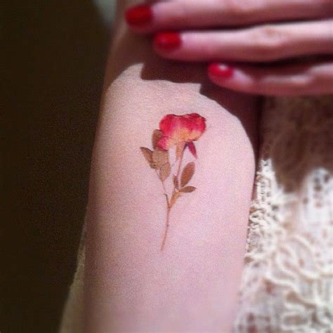 pressed flower tattoo pressed flower small realistic looking delicate