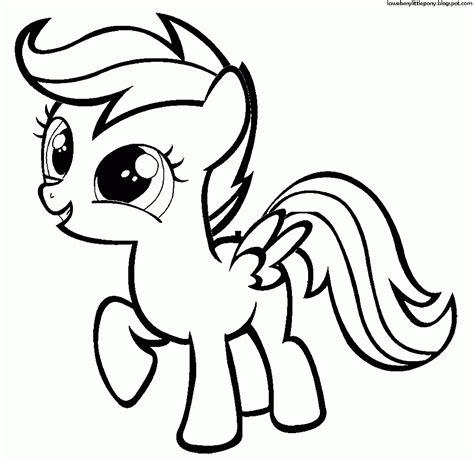 my little pony dibujos para colorear de rainbow dash de my little my little pony dibujos para colorear de scootaloo de my
