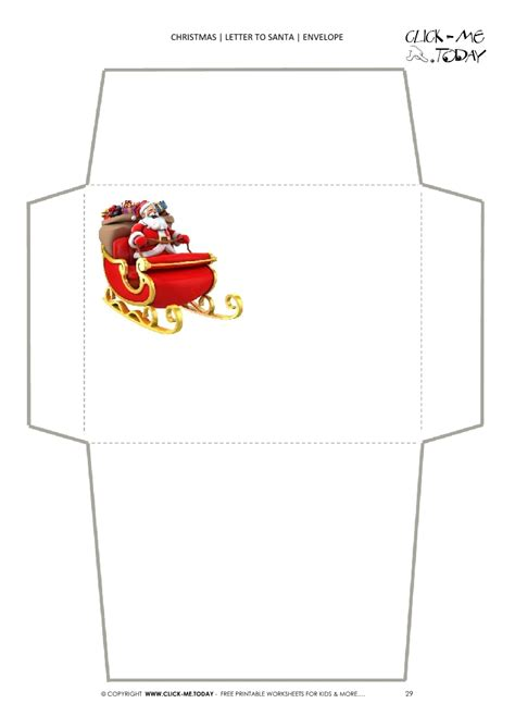20 letters to santa and printable envelopes christmas simple envelope to santa template sleigh to north pole 29