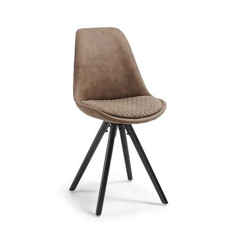 sedia imbottita sedia lars imbottita in legno nero la forma cc0224cwq