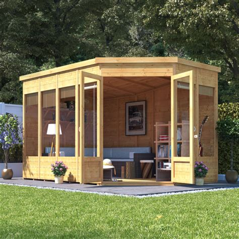 billyoh renna tongue and groove corner summerhouse wooden sheds garden buildings direct