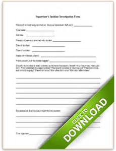 supervisors incident investigation form