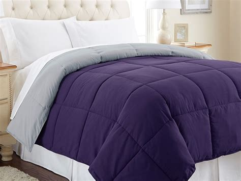 plum down comforter down alt comforter king 8 colors
