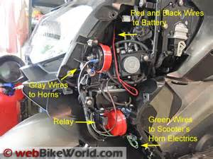 dual horn relay wiring harness webbikeworld