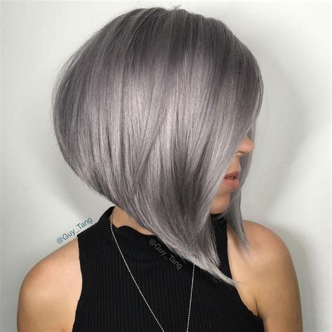 picture of precision grey hair haircut silver hair kenra by guy tang silver hair color