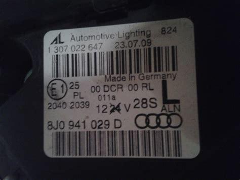 Motorrad Kleinanzeigen Ebay Frankfurt Oder by Audi Tt 8j Xenon Scheinwerfer Links Und Recht Einzeln Zu