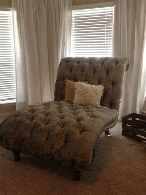 Chaise Chairs For Bedroom tufted chaise lounge chair in our master bedroom furniture master