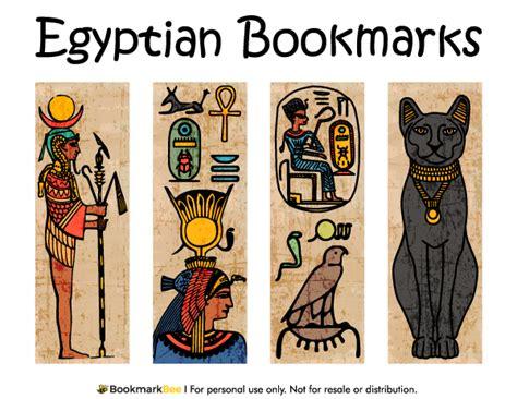 Printable Egyptian Bookmarks   free printable egyptian bookmarks download the pdf