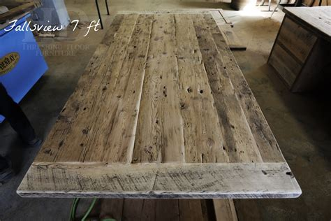 how to finish a table top with polyurethane reclaimed wood 3 plank post table in grimsby ontario