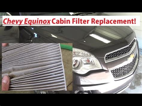 2011 Chevy Equinox Cabin Air Filter by Replace Cabin Filter On 2011 Silverado Autos Post
