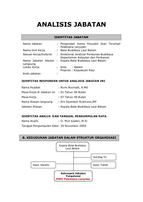 format analisis beban kerja analisis jabatan mr romi