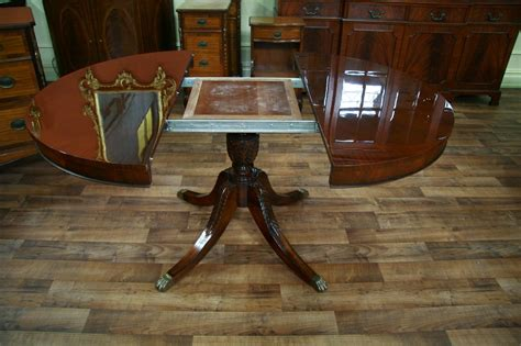 round mahogany dining table 44 quot reproduction antique round mahogany dining table with 1 leaf and duncan phyfe