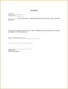 General Affidavit Template by Doc 620950 How To Write An Affidavit Uk Form Create