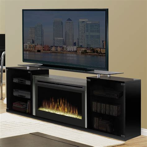 tv consoles with electric fireplace dimplex marana black electric fireplace media console