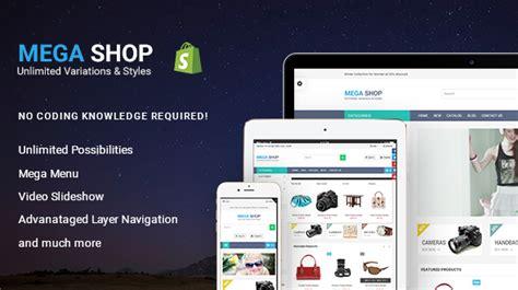 shopify retail themes megashop responsive shopify theme by arenatheme themeforest