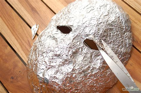 How To Make A Mask Using Paper - inital idea tin foil mask kirsty recycledportrait2014