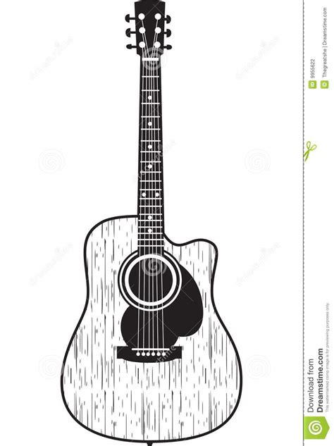 acoustic guitar stock vector image of acoustic classical