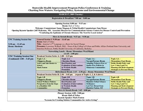 Conference Schedule Template Images Template Design Ideas Retreat Schedule Template