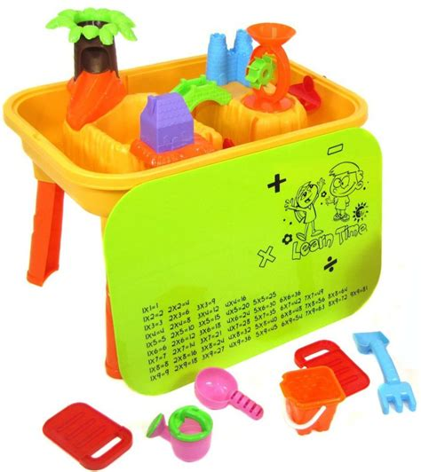 sand and water table with lid deao sand and water table with lid and 20 accessories ebay