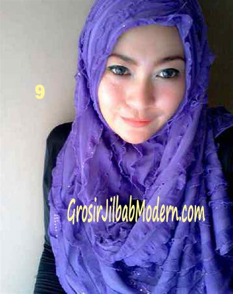 Jilbab Instan Kerudung Syiria Ruffle jilbab syrpash ruffle sparkling no 9 ungu grosir jilbab
