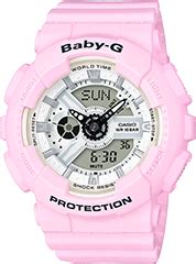 Casio Baby G Bga 130tr 7b Original ba 120 series white tricolor series running series ba 110