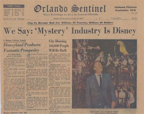 theme park newspaper articles orlando sentinel headline solved disney mystery