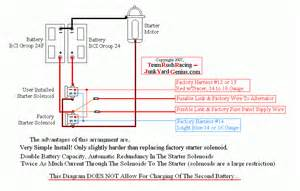 battery solenoid wiring diagram battery isolator wiring diagram panicattacktreatment co
