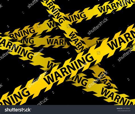 Warning Criminal Record Yellow Warning Lines Black Backgroundvector Stock Vector 101703421