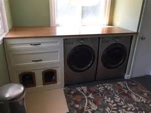 washer dryer cabinet washer dryer cabinet with litter box built in by