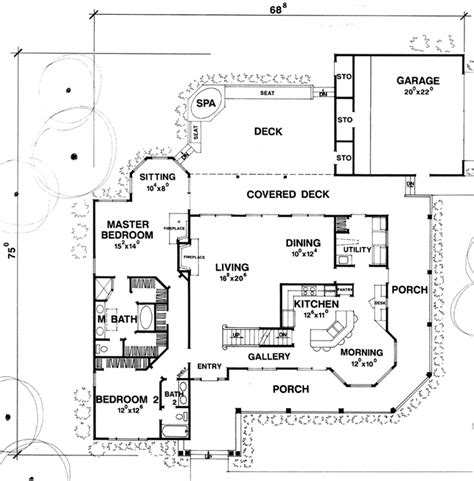 outdoor living floor plans expansive outdoor living spaces and a built in spa plan 111d 0020 houseplansandmore