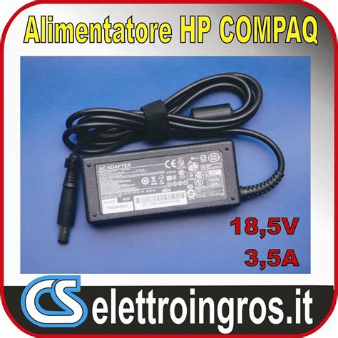 alimentatore notebook hp alimentatore notebook hp compaq 18 5v 3 5a 7 4 5 0