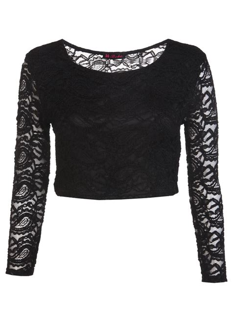 best clothing lace crop top black womens clothing sale womens