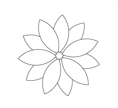 12 printable flower petal templates free free