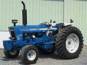 ford 7600 ford tractor blue and ford
