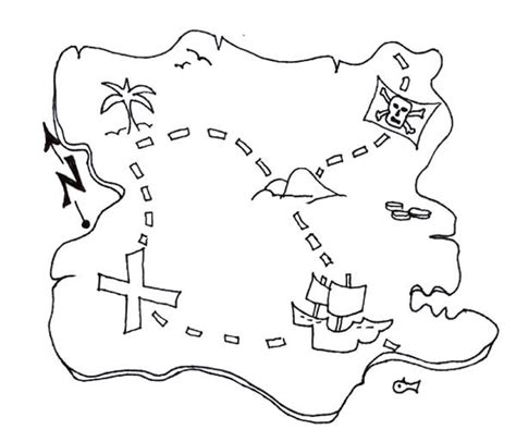 Treasure Map Coloring Pages Coloring Free Coloring Pages Treasure Map For Coloring