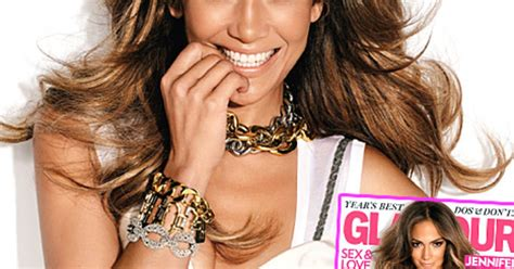 jennifer lopez covers the debut issue of glam belleza whoa jennifer lopez flashes cleavage for glamour mag us