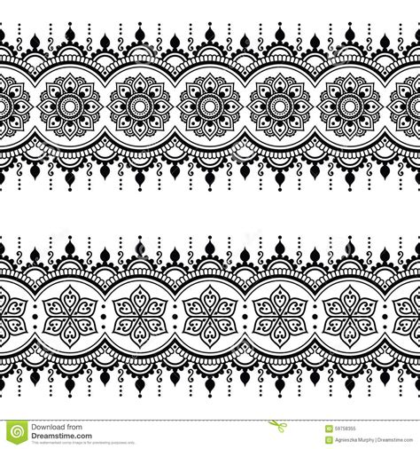 indian seamless pattern design elements mehndi tattoo