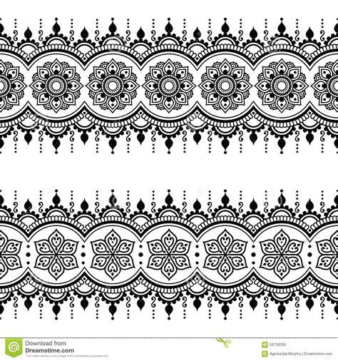 long pattern tattoo indian seamless pattern design elements mehndi tattoo