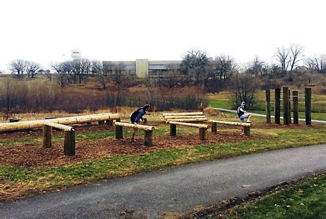 backyard obstacle course for adults diy log hurdles adult obstacle course pinterest