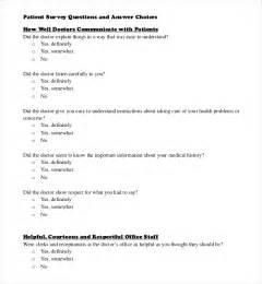 survey questions template 10 free word excel pdf