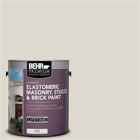 behr premium 1 gal ms 48 cove elastomeric masonry stucco and brick paint 06801 the
