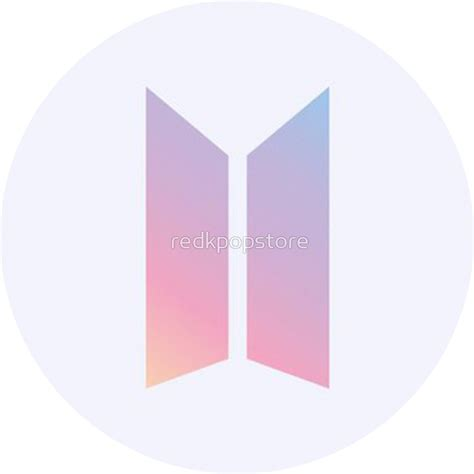 bts new logo quot bts new logo quot stickers by redkpopstore redbubble
